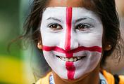Болельщица сборной Англии