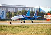 """Новый самолет Су-35 пилотажной группы """"Русские витязи"""""""