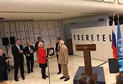 Генеральный директор Отделения ООН в Женеве Татьяна Валовая и Зураб Церетели