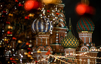 A view of St Basil's Cathedral on Moscow's Red Square