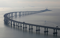 The Hong Kong-Zhuhai-Macau Bridge is the world's longest cross-sea project, which has a total length of 55 kilometers