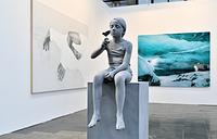 """Статуя """"Татьяна (Бабочка)"""" бельгийского художника Ханса Оп де Бека"""