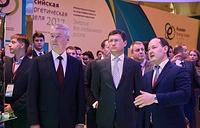 Посещение Александром Новаком площадки РЭН-2017 6 октября 2017 года