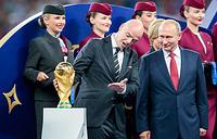 Президент FIFA Джанни Инфантино и президент РФ Владимир Путин