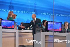Russian President Vladimir Putin at the annual Q&A session