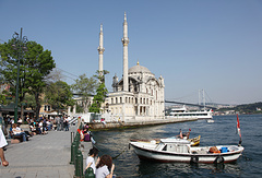 Quayside on the European coast of Bosphorus, Istanbul