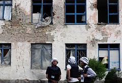 Village of Zaitsevo in Ukraine's Donetsk region