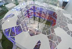 Макет центрального футбольного стадиона Екатеринбурга, реконструируемого к чемпионату мира 2018 года
