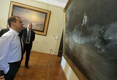 Дмитрий Медведев и Сергей Аксенов