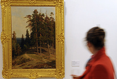 "Картина художника Ивана Шишкина ""Сосновый лес"""