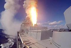 """Пуск ракет с корабля """"Адмирал Григорович"""""""