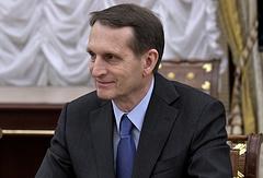 Председатель Российского исторического общества Сергей Нарышкин