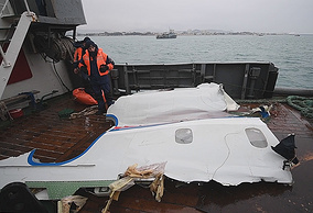 Wreckage of Tu-154 plane, retrieved from the Black Sea off Sochi coastline