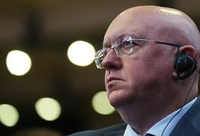 Russia's UN envoy Vasily Nebenzya