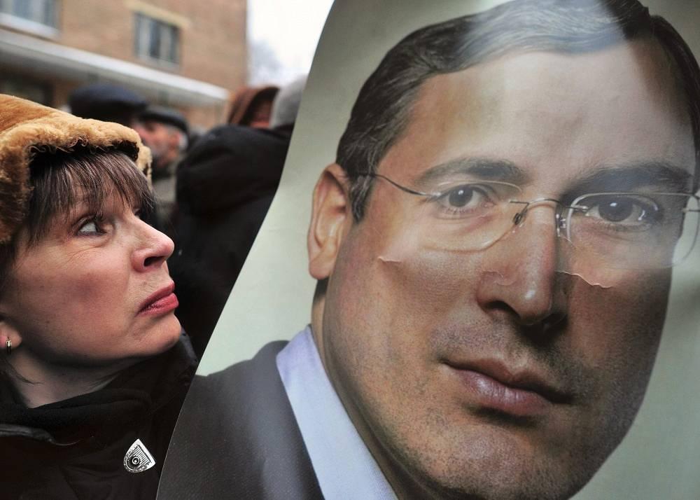 December 2010. A rally in support of Khodorkovsky near Khamovniki court