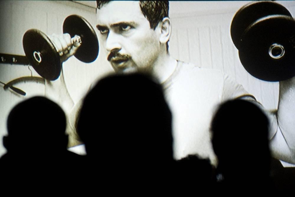 "November 24, 2011. Press screening of the documentary ""Khodorkovsky"" by German director Cyril Tuschi at FotoLoft Gallery in Vinzavod arts center"