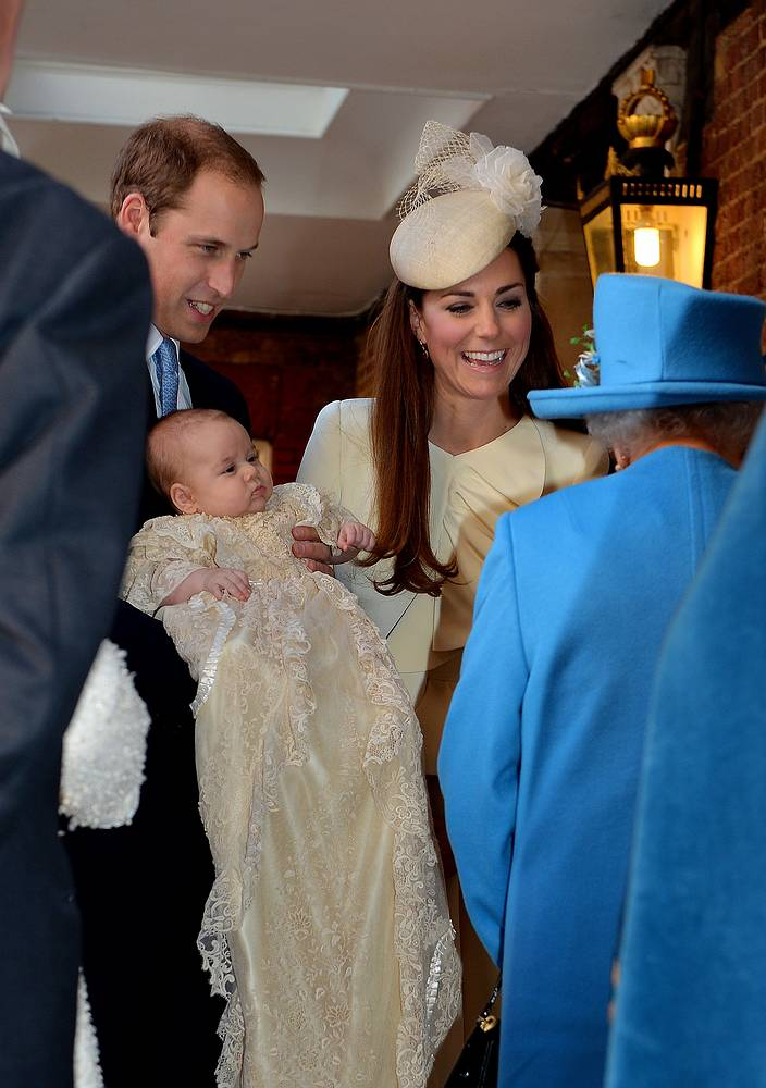 Catherine, the Duchess of Cambridge and her husband Prince William welcome a son - George Alexander Louis on July 22, 2013 in London