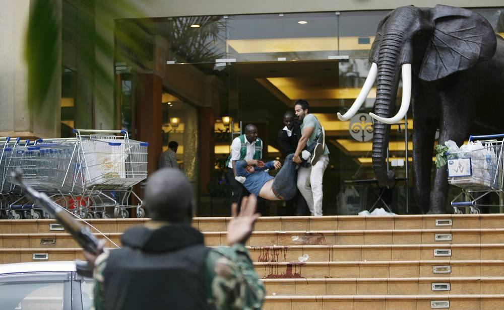 Terrorist act in Kenyan shopping mall.