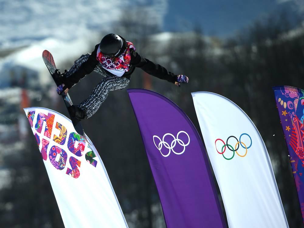 Finland's Enni Rukajärvi in her attempt in women's qualification