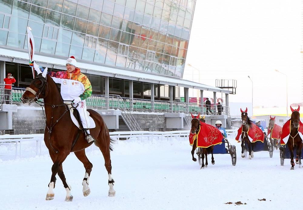 Olympic torch in Ufa