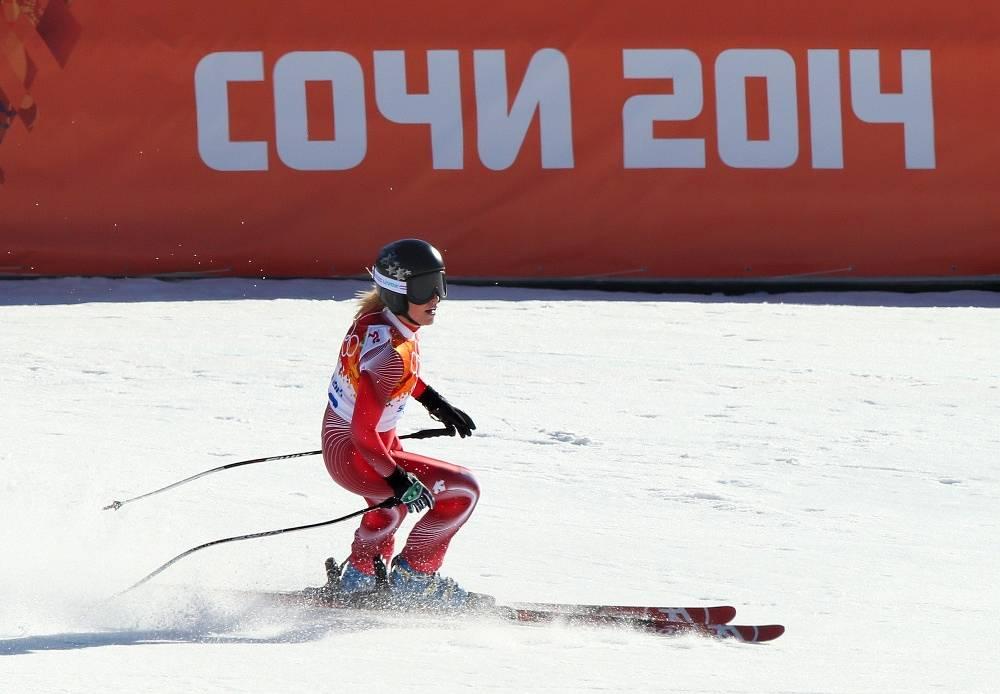 Switzerland's Lara Gut got the bronze