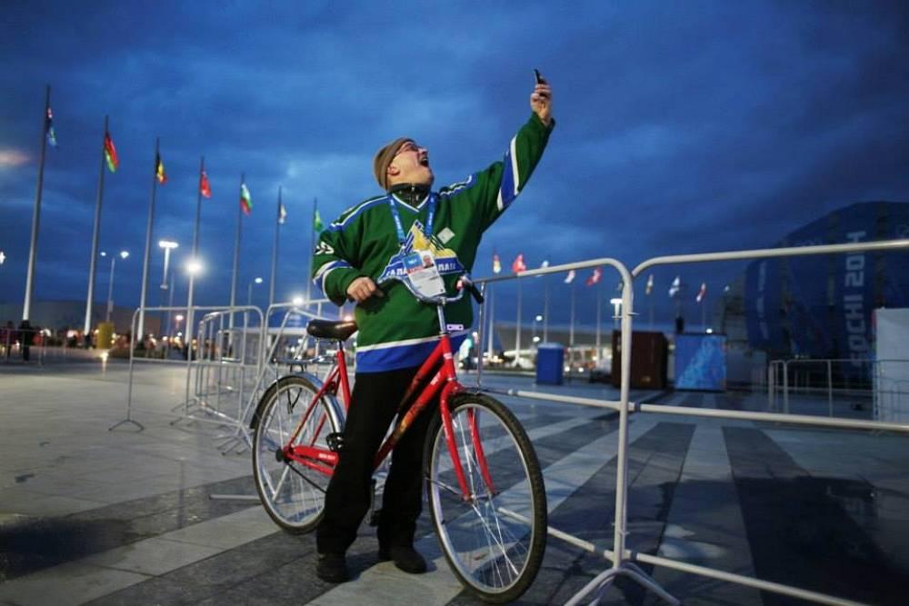 Russian fan in Olympic park