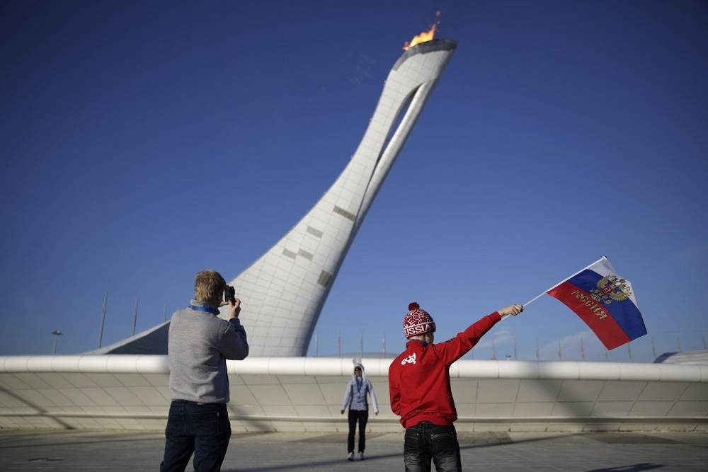 The Olympic torch is the most popular object in the Olympic park