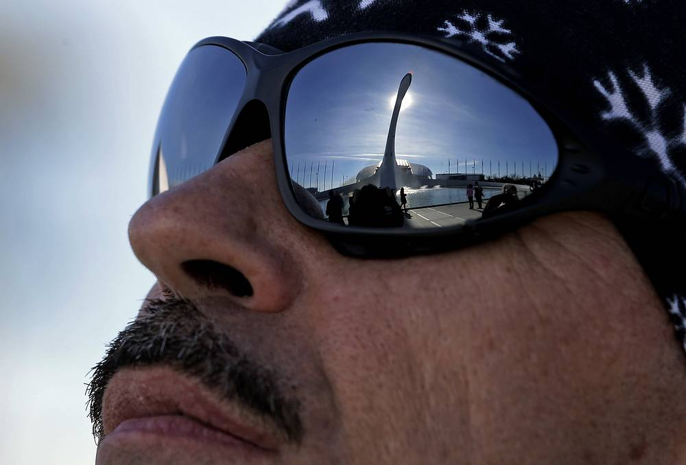 Reflection of the Olympic Cauldron