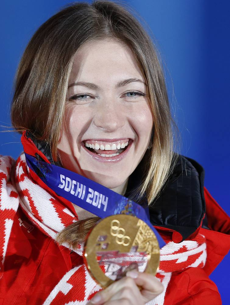 Darya Domracheva won her secpnd gold medal at 2014 Sochi Winter Olympics in women's 15km individual