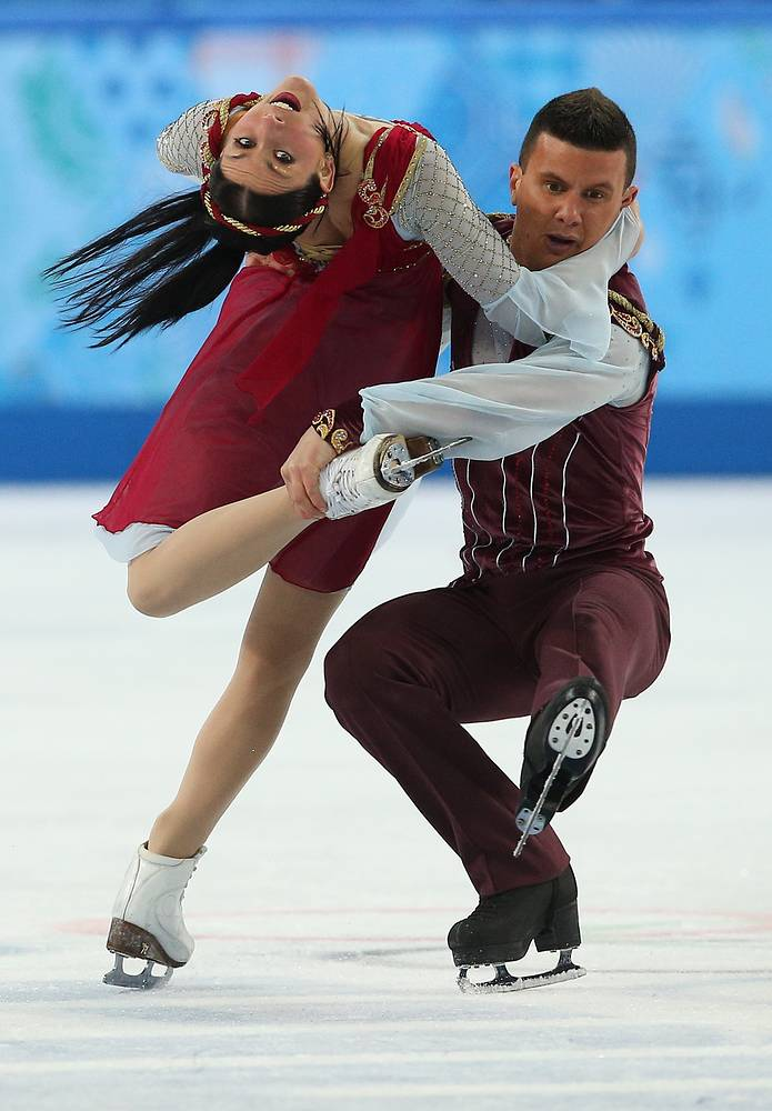 Charlene Guignard and Marco Fabbri of Italy