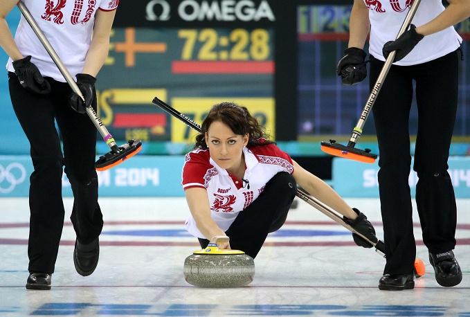 Russian curler Ekaterina Galkina (25)