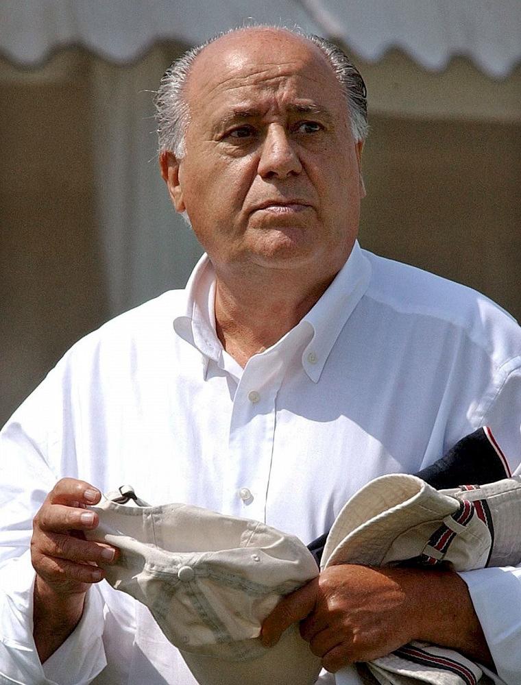 Spanish fashion executive and founding chairman of the Inditex fashion group Amancio Ortega, $64 bln
