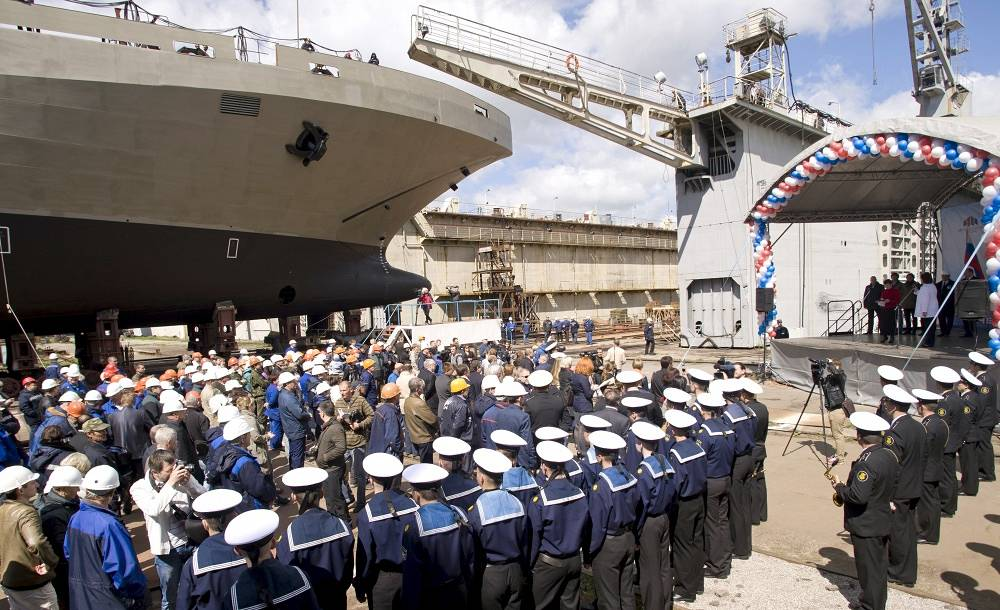 Landing ship Ivan Gren at the Yantar shipyard in May 2012