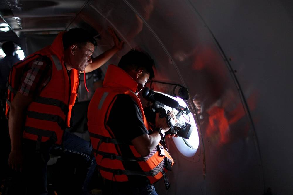 Rescue workers from differnet countries took part in the search operations