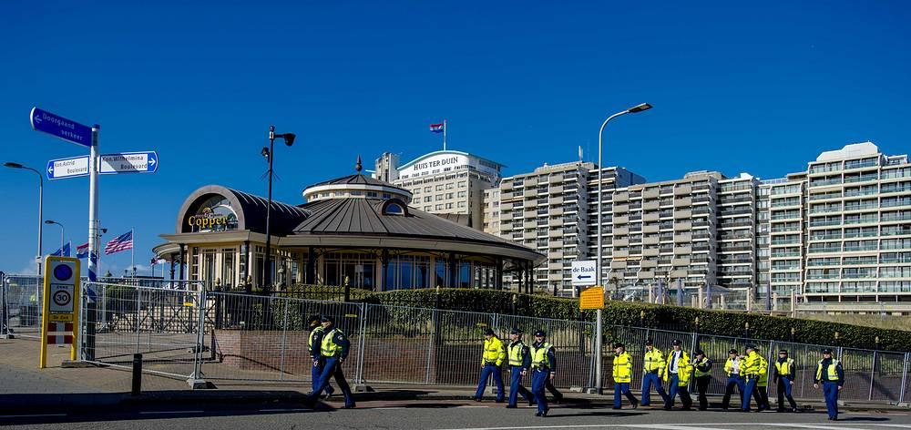 Dutch Police officers patrol