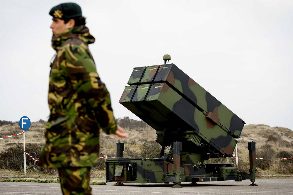 NASAMS anti-aircraft missile systems are being placed by the Dutch Defence during preparations ahead of the Nuclear Security Summit