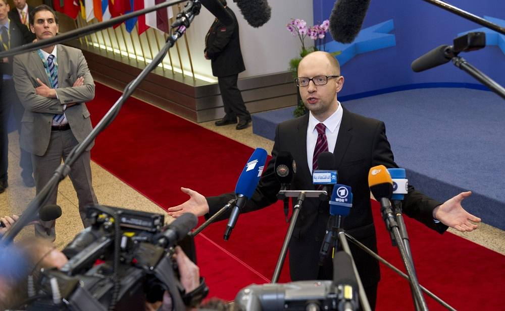 Parliament-appointed acting Prime Minister Arseniy Yatsenyuk