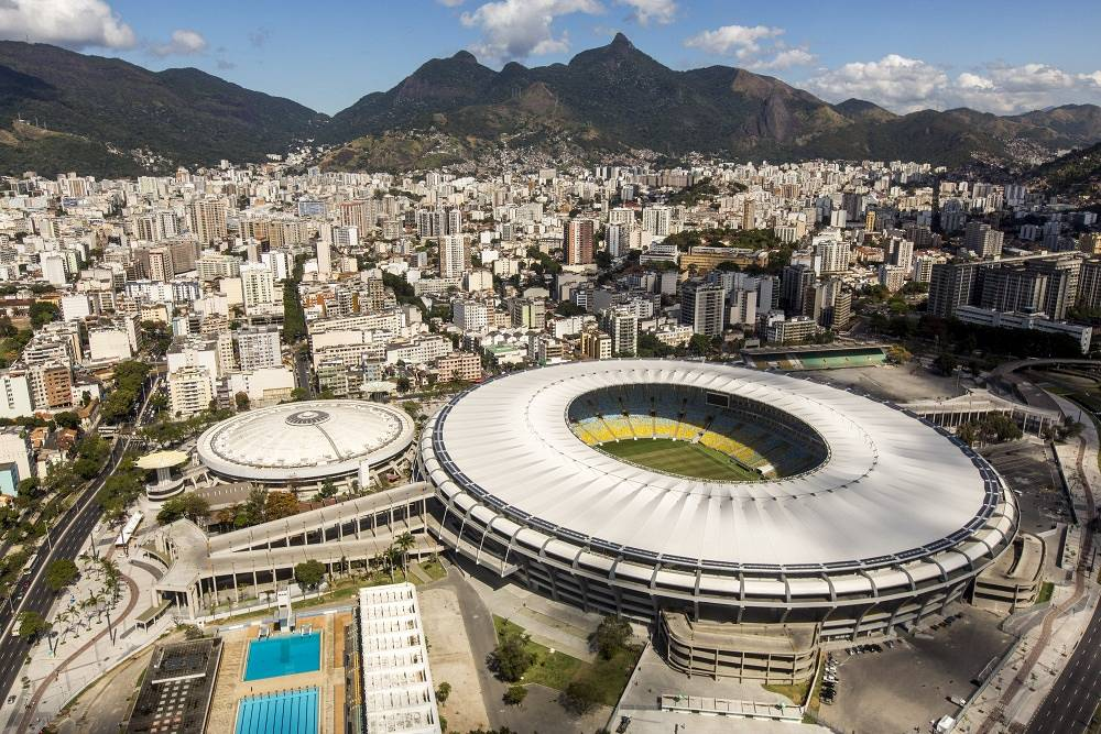 The famous Maracana Stadium in Rio de Janeiro has the biggest capacity in South America — 78,000. Before the reconstruction it could room up to 200,000. Four group matches, 1/8 final, 1/4 final and the final will be played here