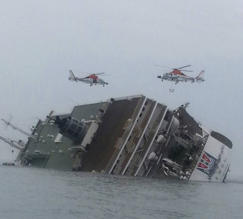 A ferry sank Wednesday off the southern coast of South Korea