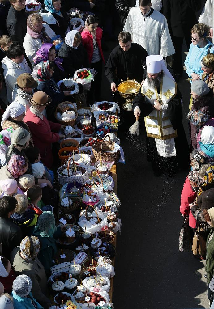Holy Saturday is a day of strict fasting for Russian Orthodox Christians, while preparations are being made for the Easter meal