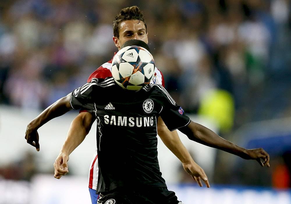 Atletico Madrid's midfielder 'Koke' Resurreccion and Chelsea's Brazilian midfielder Ramires do Nascimento