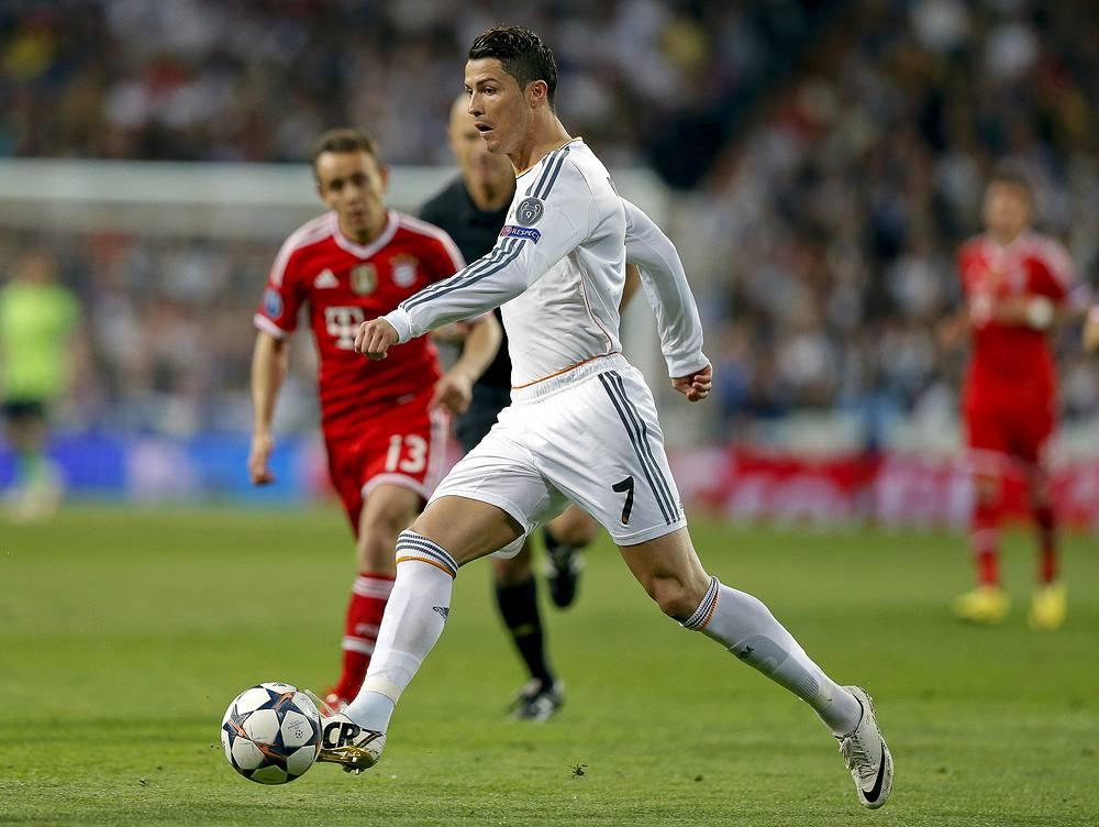 Cristiano Ronaldo in action