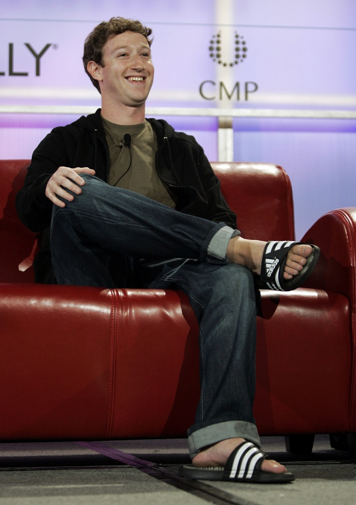 According to GQ magazine, Mark Zuckerberg has one of the worst tastes in clothes in Silicon Valley. He often appears publicly wearing jeans, slippers an hoodies