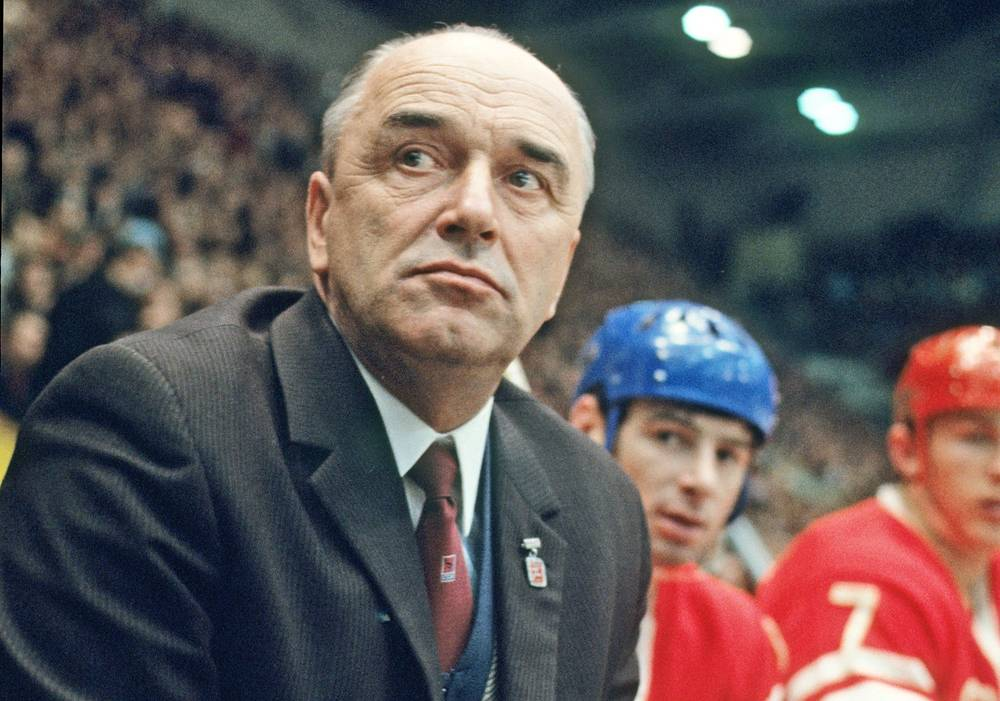 Arkady Chernyshev  served  as USSR national team coach from 1954 to 1957 and from 1961 to 1972, won 11 World Champion titles (1954, 1956, 1963—1971), 11 Europe Champion titles (1958—1960, 1963—1970) and 4 Olympic Champion titles (1956, 1964, 1968, 1972)