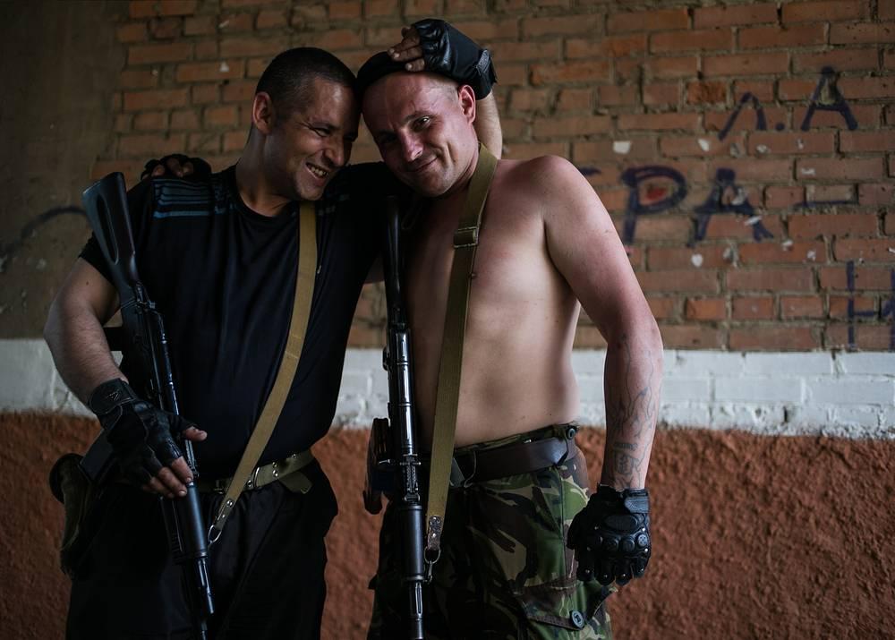 Donbass militia members