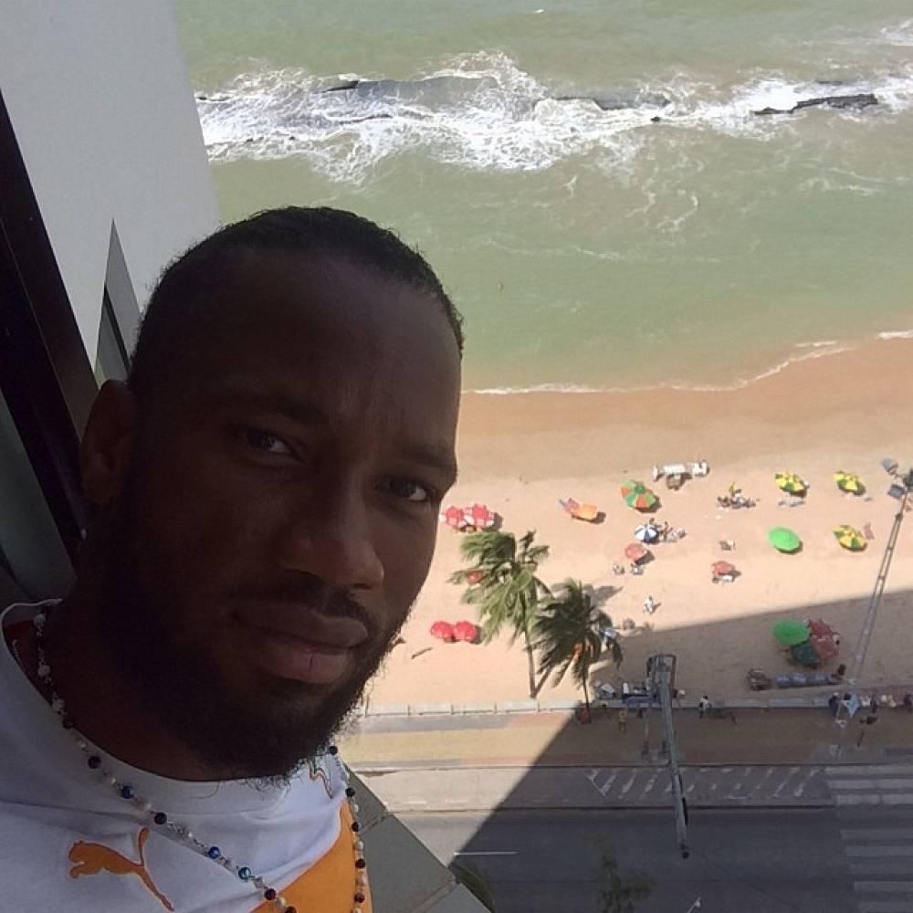 Cote d'Ivoire's captain Didier Drogba posted a selfie with ocean in the background
