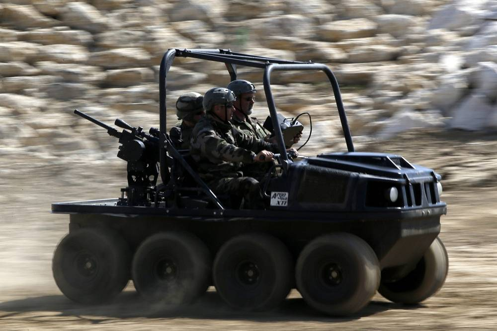 Argo 8x8 XTI, an 8-wheel drive amphibious Utility Terrain vehicle