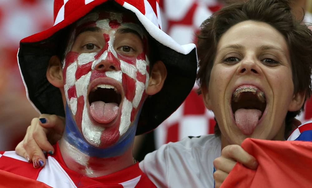 Supporters of Croatia