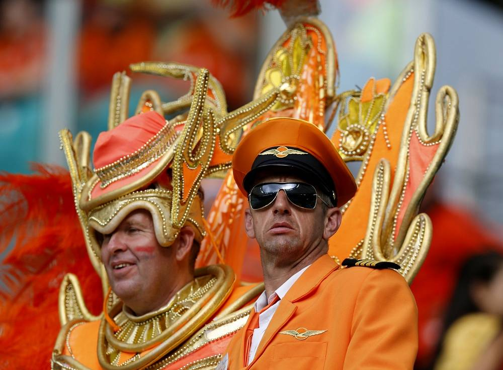Lots of orange for the Netherlands