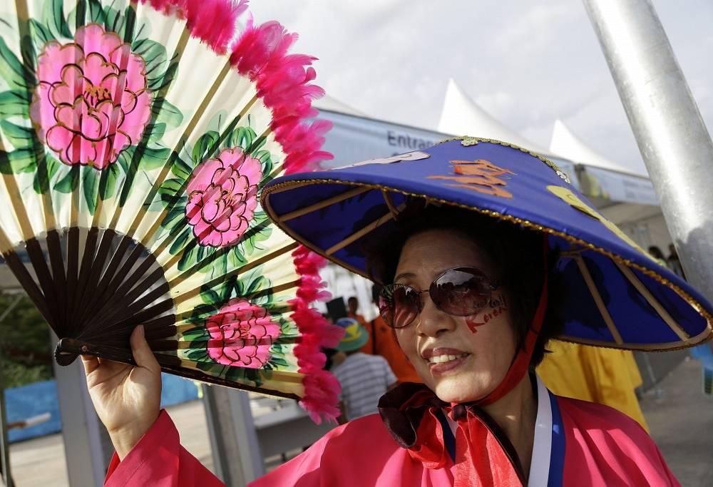 Elegant support for South Korea